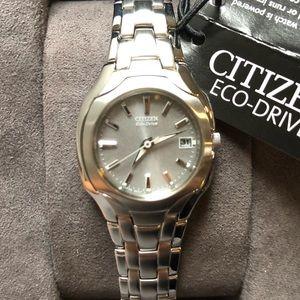 NIB NWT Citizen Eco-Drive SS Watch